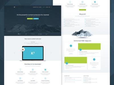 K2 - Joomla Homepage Early Wireframes