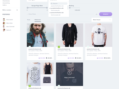 Achoo - Discover Page search products ui ux user interface dashboard flat clean filters drop down ui kit