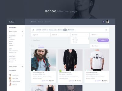 Achoo - Discover Page