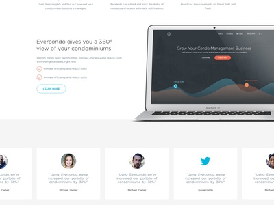 Evercondo Landing Page - Residents #2 web design website landing page ui ux flat business clean icons balkan brothers