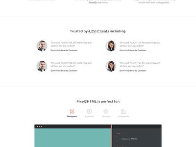 Website for Pixel2HTML (WIP) website ui ux web design landing page homepage banner header balkan brothers