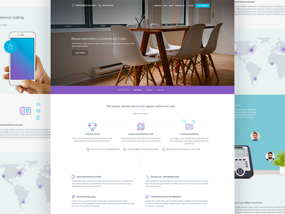 Conference Calling - How it Works?  web design website ui ux user experience ux design homepage business flat clean balkan brothers icons