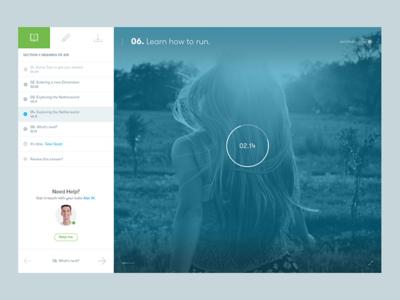 Tutor Me - Lesson Video (WIP) minimal flat clean balkan brothers media video player web app dashboard interface ux ui