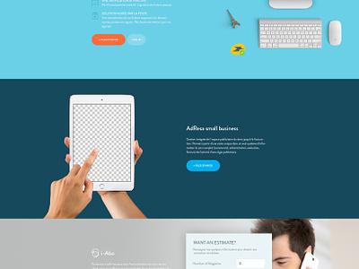 Transat Informatique - Landing Page clean flat responsive design content landing page website web design ux ui