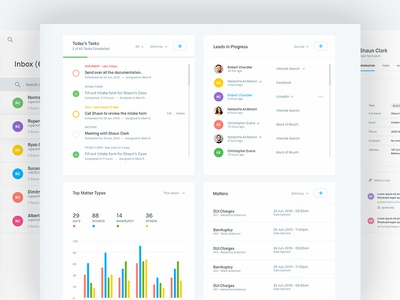 Crm dashboard home inbox profile by balkan brothers for Data table design inspiration