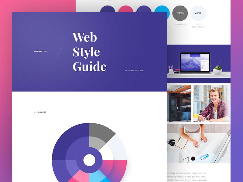 Ui Kit for WebMeeting design guidelines grid minimal clean colors guide style kit ui