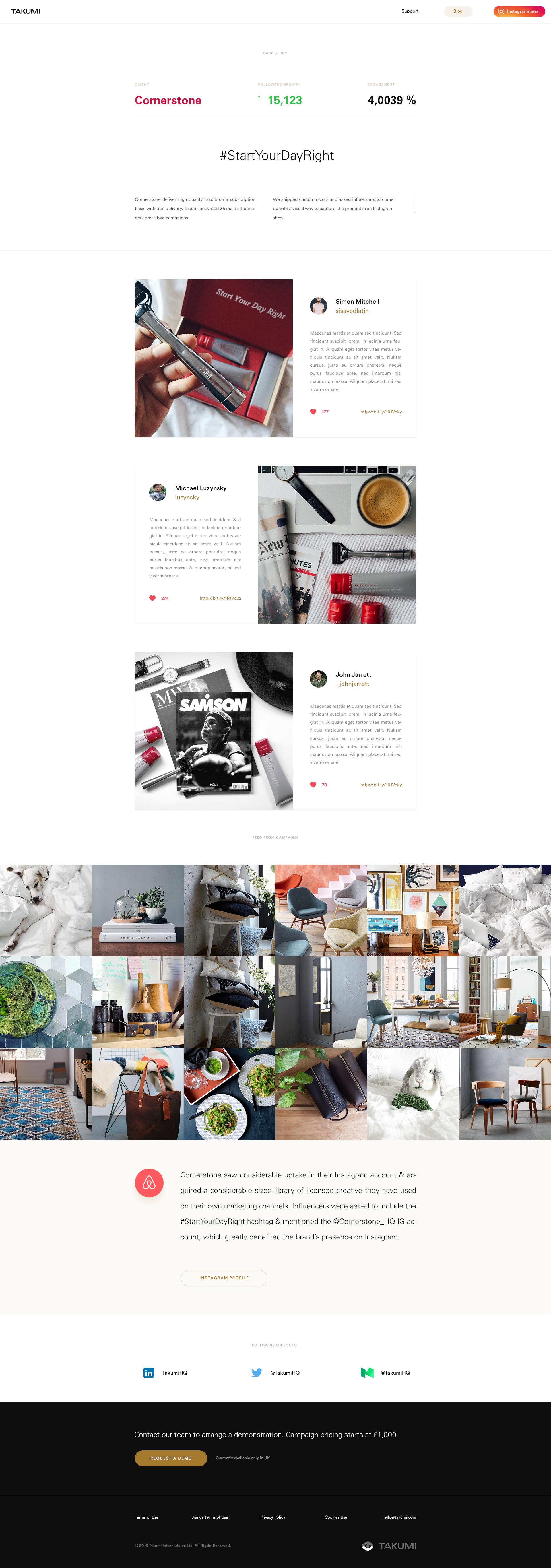 Takumi design case study