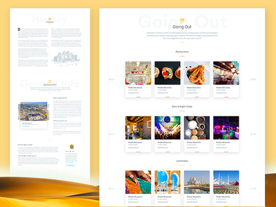 "Clearmove - City Guide ""Dubai"" clearmove responsive moving travel page home website clean design web ux ui"