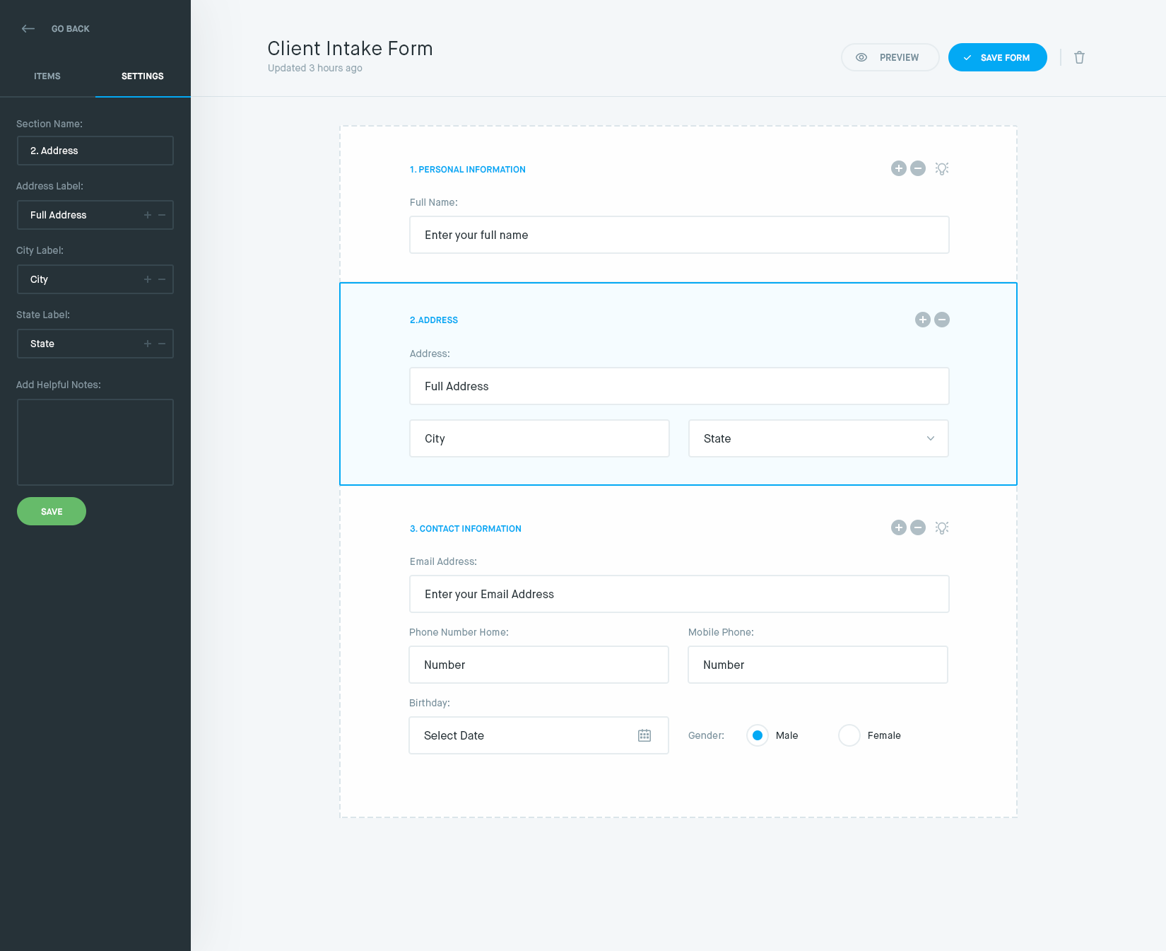 dribbble - form-builder by balkan brothers