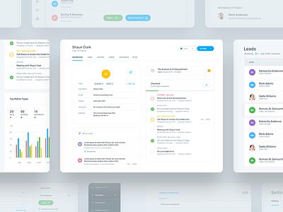 CRM - Dashboard+ chart task clean app web ux dashboard interface user crm ui