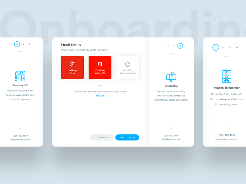 CRM - Onboarding crm tour interface ux ui dashboard app web sign up on boarding step