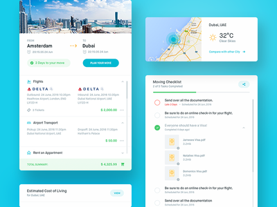 Clearmove Dashboard - Home clean balkan brothers travel app web experience user dashboard interface ux ui
