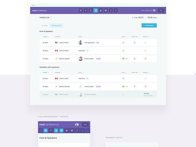 Conference Calling -  Behance Case Study behance app dashboard interface study case design web ux ui