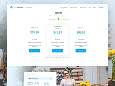 Invoice Sherpa - Pricing user experience app invoicing design features page web website pricing ux
