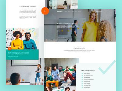 Teachable - Careers flat clean teachable careers website design web experience user ux