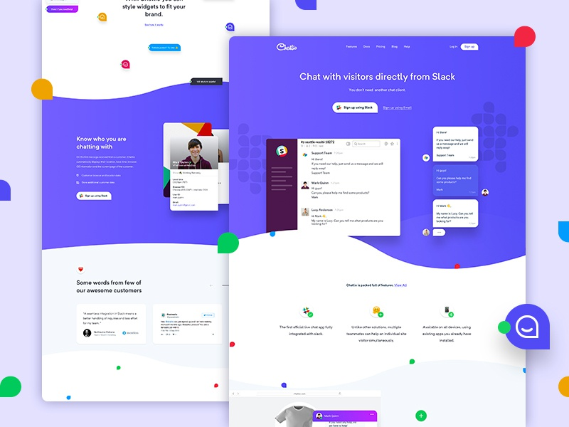 Chatlio is coming soon! gradient clean landing page ui user experience ux chat website web design