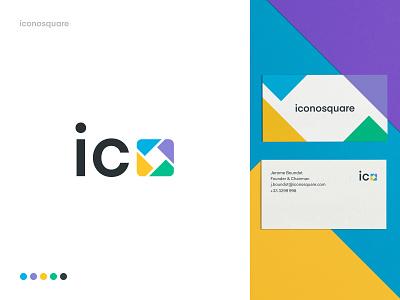 Iconosquare Branding - Exploration 01 brand branding logo wordmark logomark stationery brand agency graphic design art creative business cards colors typography brand guide brand and identity
