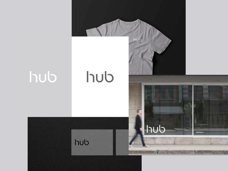 The Hub - Brand Exploration 01 art direction visual language design system color scheme typograhy mockups tshirt business cards stationery identity mark icon logo design brand branding