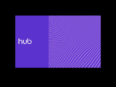 The Hub - Brand Exploration 02c art direction visual language word typography color scheme business card posters billboard stationery icon mark logo pattern motion branding design brand