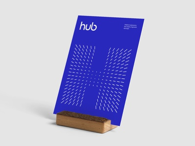 The Hub - Brand Exploration 03 typography colors identity visual language art direction style guide stationery mockup poster logotype word mark logo brand branding