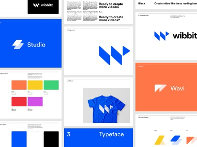 Wibbitz - Brand Guidelines video marketing rebrand art direction balkan brothers design system colors stationery brand strategy icon wordmark logotype typeface logo identity visual identity design brand branding
