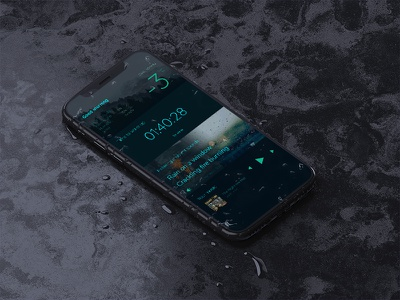 Weather App dark uiux relax alarm norway oslo weather ux contrast player music iphone x