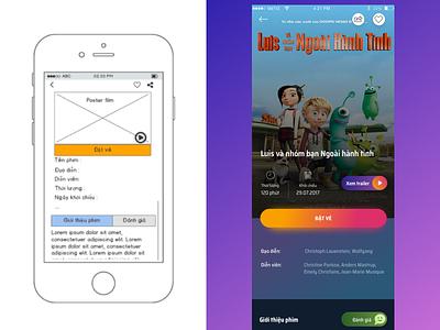Cinema Mobile App user interface uiux movie cinema