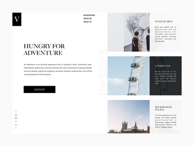 Landing page mockup uk ux design ui  ux design ux creative minimal travel adventure responsive design homepage design home page ui ui daily london landing page