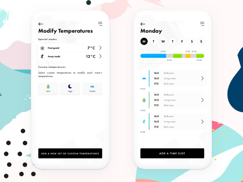Smart Heater smart home app memphis scheduling scheduler minimalism heater smart heater smart home smarthome