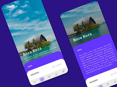 Places to Travel App Concept card design island explore london uiux travel