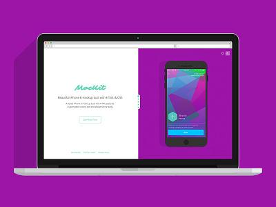 MocKit Landing Page mockit mock iphone iphone 6 mockup ios ui landing page resource free
