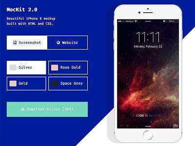 MocKit 2.0 free resource material ios mockup iphone 6 iphone mock mockit2