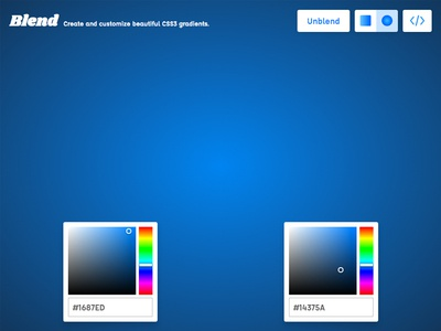 Blend v2 - Create and customize beautiful CSS3 gradients
