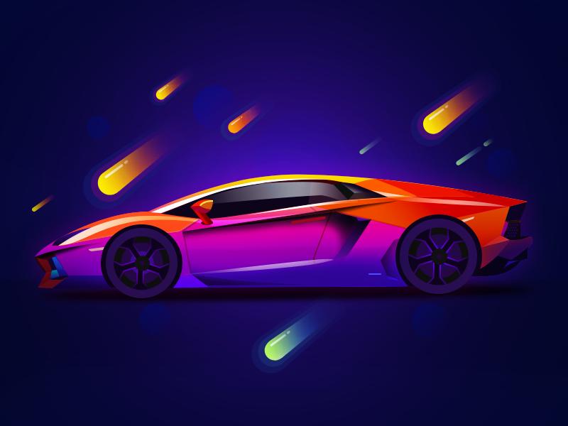 Dark background gradient icon