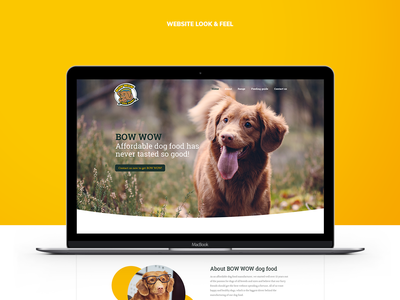 Dogfood Website Design