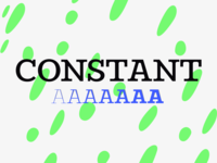 Constant display typeface family