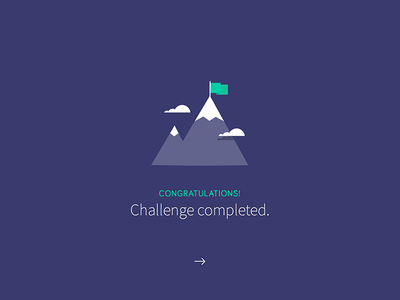 Challenge Completed clouds app achievement flag challenge mountain ui