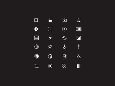 Film Icons tools geometric dark camera ui icon set icons