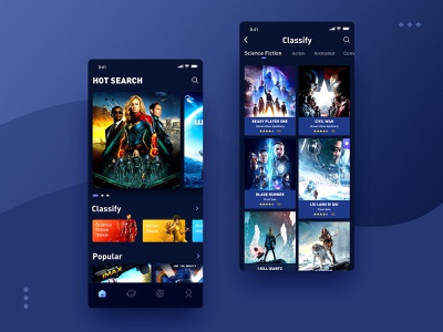 The latest and hottest movies are here 设计 ui