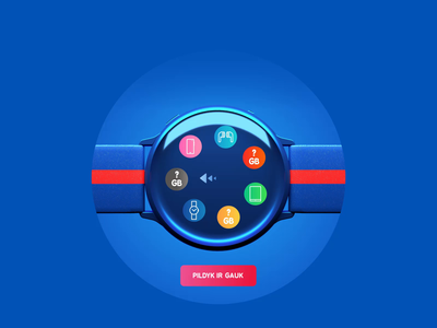 Pildyk game animation realistic clean ui gradient galaxy responsive design c4d 3d render icons design ewatch lottery buds samsung watch blue after affects lottie game ui design animation