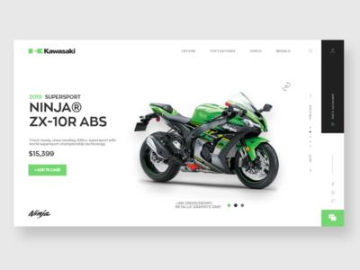 Kawasaki page redesign concept