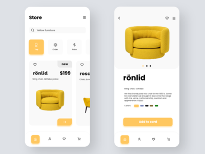 Product page app concept