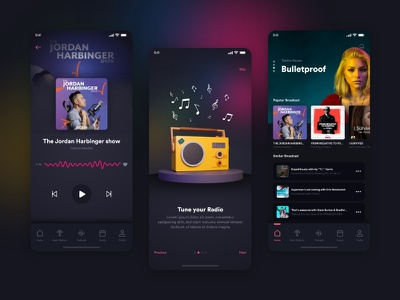 Podcast App free UI kit adobe xd branding ux vector app adobe ui mobileapp graphicdesign consept uiux