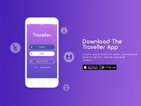 Traveller App Landing Page