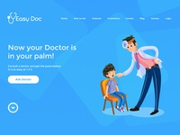 Easy Doc Mobile App Landing Page