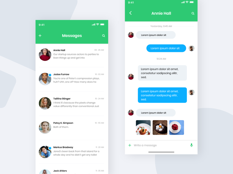 Messaging App ui mobileapp uiux