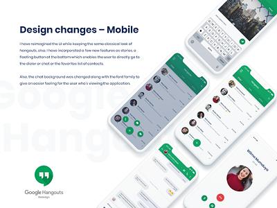 Google Hangouts Redesign chat app message app xd adobe branding hangouts consept design animation app mobileapp google uiux