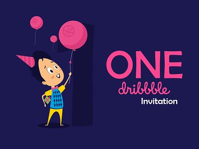 1X Dribble Invitation vector consept graphicdesign illustration invitation dribbble