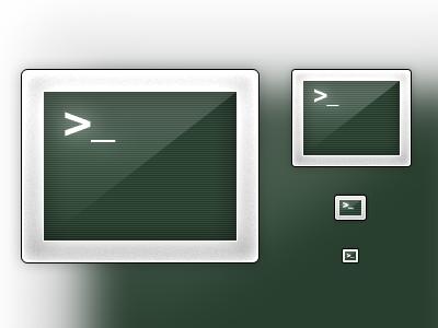 Terminal Icon terminal mac icon replacement green black silver