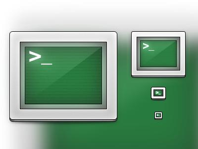 Terminal v2 icon terminal replacement green silver nerd